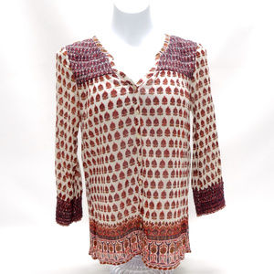 "Lucky Brand ""Live in Love"" Graphic Boho Tunic"